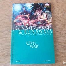 Cómics: CIVIL WAR: JÓVENES VENGADORES & RUNAWAYS, DE PANINI COMICS (ZEB WELLS & STEFANO CASELLI). Lote 115312251