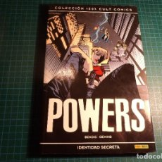 Cómics: POWERS. IDENTIDAD SECRETA. COLECCION 100% CULT COMICS. (B-6). Lote 115515671