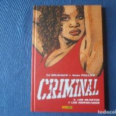 Cómics: CRIMINAL 03 LOS MUERTOS Y LOS MORIBUNDOS DE ED BRUBAKER & SEAN PHILIPS. Lote 115552119