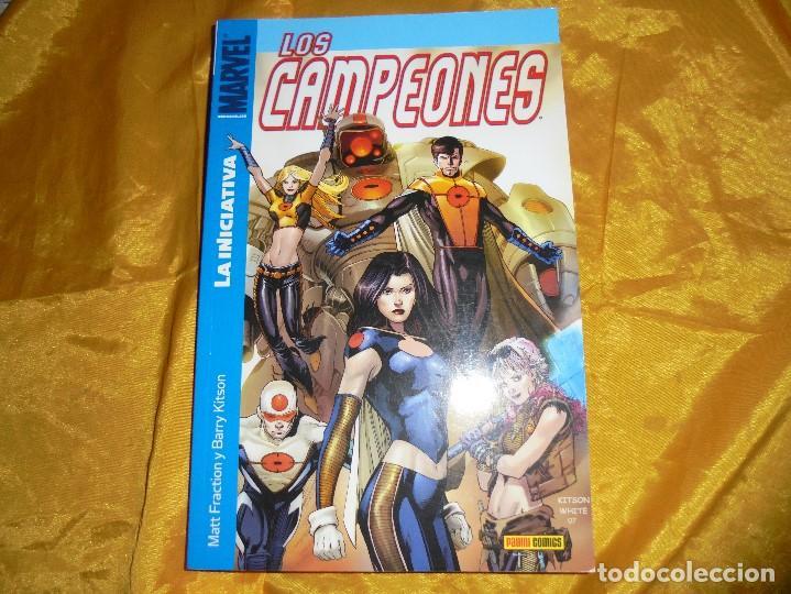 LOS CAMPEONES. LA INICIATIVA. VOL 1. MATT FRACTION / BARRY KITSON. PANINI / MARVEL (Tebeos y Comics - Panini - Marvel Comic)