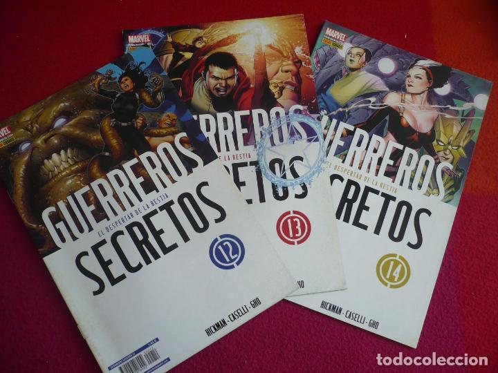 GUERREROS SECRETOS NºS 12, 13 Y 14 ( HICKMAN CASELLI ) ¡MUY BUEN ESTADO! MARVEL PANINI (Tebeos y Comics - Panini - Marvel Comic)