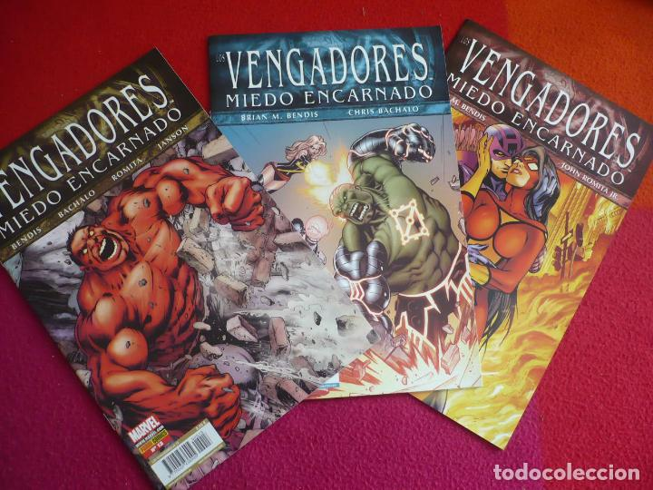LOS VENGADORES VOL. 4 NºS 13, 14 Y 15 MIEDO ENCARNADO ( BENDIS BACHALO ) ¡MUY BUEN ESTADO! PANINI (Tebeos y Comics - Panini - Marvel Comic)