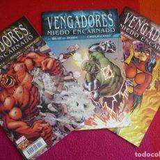 Cómics: LOS VENGADORES VOL. 4 NºS 13, 14 Y 15 MIEDO ENCARNADO ( BENDIS BACHALO ) ¡MUY BUEN ESTADO! PANINI . Lote 118813075