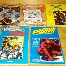 Cómics: 3 TOMOS VIEJOS MARVEL Y 2 SPIDERMAN DAREDEVIL VENGADORES TIERRA X. Lote 121791831