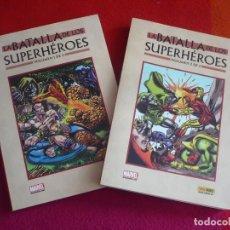 Cómics: LA BATALLA DE LOS SUPERHEROES 1 Y 2 ¡COMPLETA! ( TRIMPE GIFFEN ) ¡MUY BUEN ESTADO! PANINI MARVEL . Lote 121852835