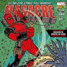 Cómics: COMIC MARVEL - MASACRE - PANINI COMICS - 005 - ¡EL MEJOR CÓMIC DEL MUNDO! NUEVO . Lote 126878439