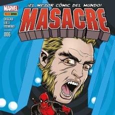 Cómics: COMIC MARVEL - MASACRE - PANINI COMICS - 006 - ¡EL MEJOR CÓMIC DEL MUNDO! NUEVO . Lote 126878487