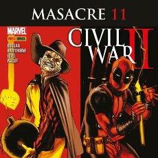 Cómics: COMIC MARVEL - MASACRE - PANINI COMICS - 11 - CIVIL WAR II - NUEVO. Lote 126878887