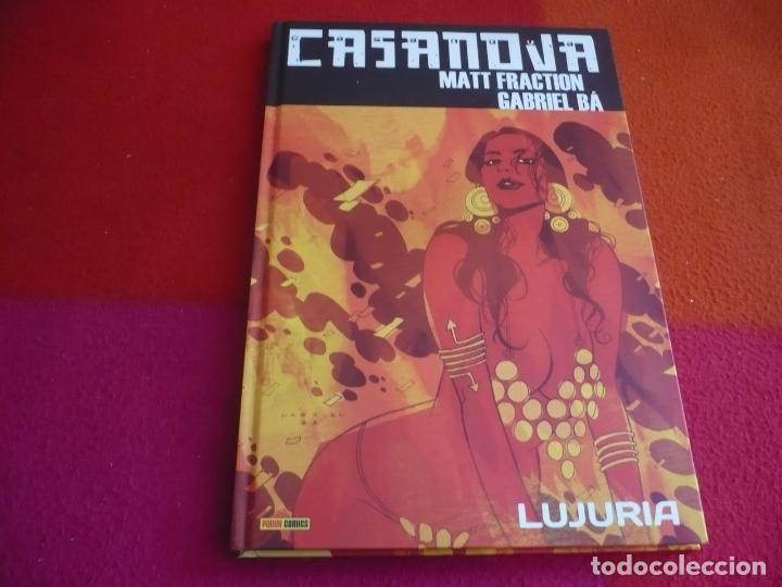 CASANOVA 1 LUJURIA ( MATT FRACTION GABRIEL BA ) ¡MUY BUEN ESTADO! PANINI TAPA DURA (Tebeos y Comics - Panini - Marvel Comic)