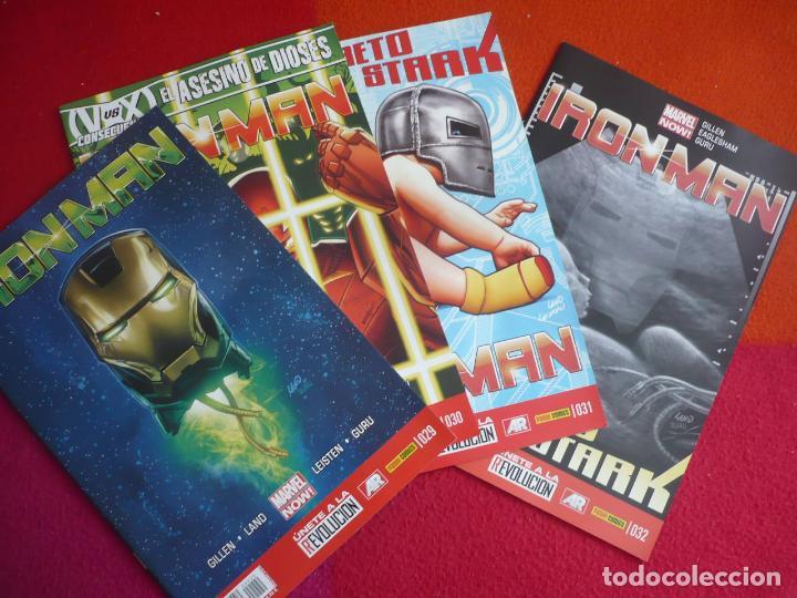 IRON MAN VOL. 2 NºS 29, 30, 31 Y 32 ( GILLEN LAND ) ¡MUY BUEN ESTADO! PANINI MARVEL NOW (Tebeos y Comics - Panini - Marvel Comic)
