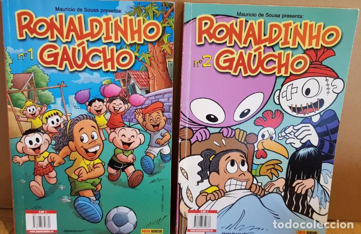 RONALDINHO GAÚCHO Nº 1 Y 2 / MARURICIO DE SOUSA / COMICS PANINI / COMO NUEVOS. (Tebeos y Comics - Panini - Otros)