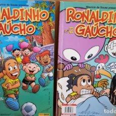 Cómics: RONALDINHO GAÚCHO Nº 1 Y 2 / MARURICIO DE SOUSA / COMICS PANINI / COMO NUEVOS.. Lote 131563770