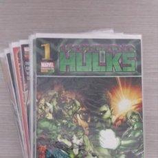 Cómics: LOS INCREÍBLES HULKS (HULK) VOLUMEN 1 COMPLETO EN 12 NÚMEROS GRAPA 1+2+3+4+5+6+7+8+9+10+11+12 PANINI. Lote 132327478