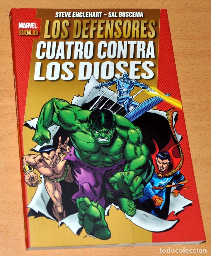 MARVEL GOLD: LOS DEFENSORES. CUATRO CONTRA LOS DIOSES - EDITA: PANINI COMICS - AÑO 2012 (Tebeos y Comics - Panini - Marvel Comic)