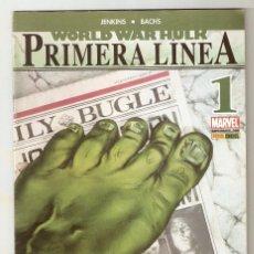 Cómics: WORLD WAR HULK PRIMERA LINEA - Nº 1 - PANINI -. Lote 136466682