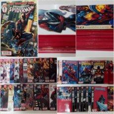 Cómics: SPIDERMAN LOTE 45 TOMOS + N°0 (GRAPA) PANINI, LOMO ROJO, DEL 1 AL 45 IMPECABLES.. Lote 140426258