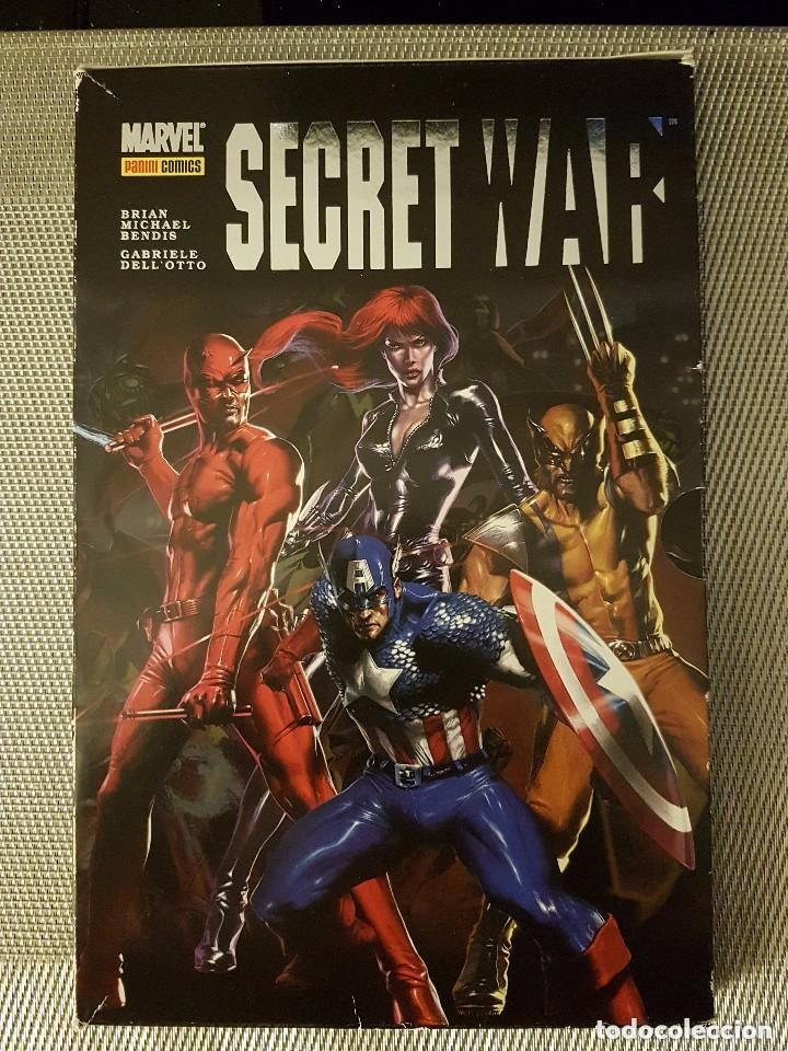 SECRET WAR ¡ COMPLETA ! 5 NÚMEROS + CARPETA FIRMADA POR BENDIS - MARVEL - PANINI (Tebeos y Comics - Panini - Marvel Comic)
