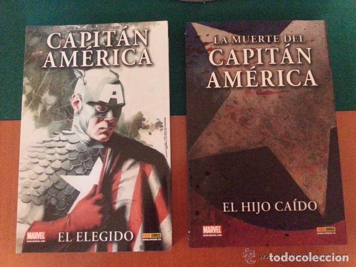 LOTE DE 2 TOMOS MARVEL - LA MUERTE DEL CAPITÁN AMERICA - DE PANINI (Tebeos y Comics - Panini - Marvel Comic)