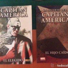 Cómics: LOTE DE 2 TOMOS MARVEL - LA MUERTE DEL CAPITÁN AMERICA - DE PANINI. Lote 140529322