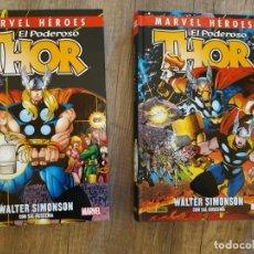 Cómics: MARVEL HEROES PODEROSO THOR WALTER SIMONSON 2 TOMOS. Lote 141553174