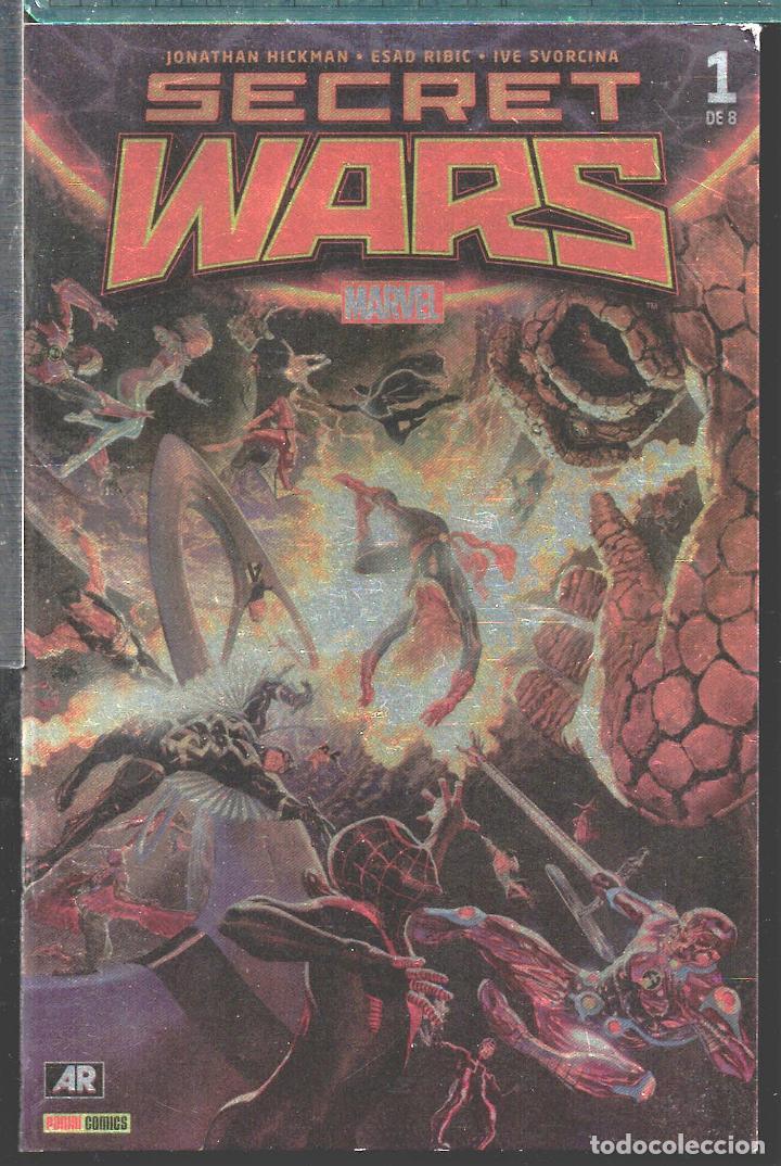 TEBEOS-COMICS CANDY - SECRET WARS - 1 - PANINI PORTADA METALICA - RARO - *XX99 (Tebeos y Comics - Panini - Marvel Comic)