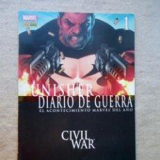 Comics : PUNISHER DIARIO DE GUERRA Nº 1 CIVIL WAR MARVEL PANINI 2007. Lote 143048562