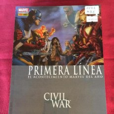 Cómics: PANINI COMICS PRIMERA LINEA CIVIR WAR DEL 1 AL 6 MUY BUEN ESTADO. Lote 144763850