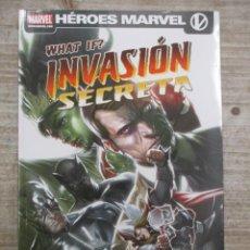 Cómics: HEROES MARVEL - WHAT IF? - INVASION SECRETA Y OTRAS GRANDES HISTORIAS - PANINI / MARVEL. Lote 147688898