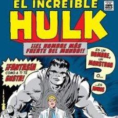 Cómics: EL INCREIBLE HULK MARVEL GOLD TOMO OMNIGOLD - STAN LEE JACK KIRBY DITKO SEVERIN KANE. Lote 148071750