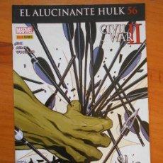 Cómics: EL INCREIBLE HULK - VOLUMEN 2 - VOL. 02 - Nº 56 - EL ALUCINANTE HULK - CIVIL WAR II - PANINI (BU). Lote 148164182