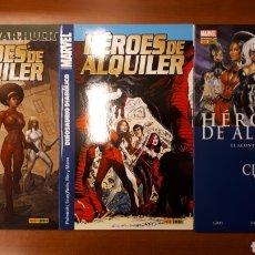 Cómics: HÉROES DE ALQUILER 1 AL 3 COMPLETA -IMPECABLES!. Lote 149885858