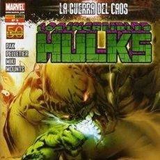 Cómics: LOS INCREIBLES HULKS Nº 2 3 5 8 Y 11- PAK PELLETIER KITSON - PANINI. Lote 150532922