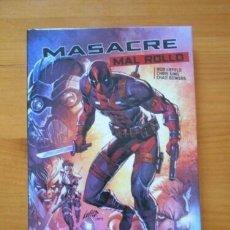 Cómics: NOVELA GRÁFICA: MASACRE - MAL ROLLO - TOMO - PANINI. Lote 151474622