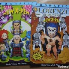 Cómics: LORENZO ORIGEN Y NEW X-PEN 1 Y 2 - PARODIA X-MEN LOBEZNO - FX GRAFIC - GRAPA - . Lote 156660370