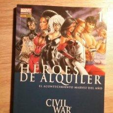 Cómics: HEROESDE ALQUILER: CIVIL WAR 1 - 30% DESCUENTO EN VENTA DIRECTA # F. Lote 158745890