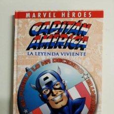 Cómics: MARVEL HEROES 3 CAPITAN AMERICA LA LEYENDA VIVIENTE MUY BUEN ESTADO. Lote 158999626
