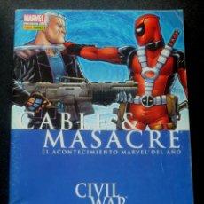 Cómics: CABLE&MASACRE EL ACONTECIMIENTO MARVEL DEL AÑO CIVIL WAR PANINI 2007. Lote 159235210