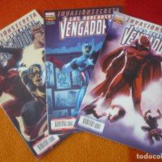 Cómics: LOS PODEROSOS VENGADORES NºS 12, 13 Y 14 INVASION SECRETA ( BENDIS ) ¡MUY BUEN ESTADO! PANINI . Lote 162591434