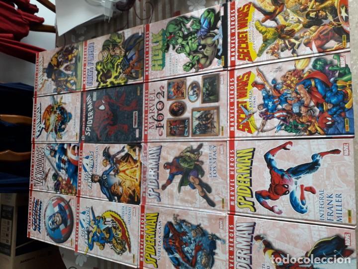 MARVEL HEROES 16 TOMOS PATRULLA X SPIDERMAN 4 FANTASTICOS CAPITAN AMERICA VENGADORES ETC (Tebeos y Comics - Panini - Marvel Comic)