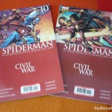 Cómics: SPIDERMAN VOL. 2 NºS 10 Y 11 ( STRAZINSKY PETER DAVID ) CIVIL WAR ¡BUEN ESTADO! MARVEL PANINI 2007 . Lote 167019208