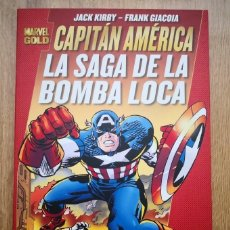 Cómics: MARVEL GOLD CAPITÁN AMÉRICA: LA SAGA DE LA BOMBA LOCA. JACK KIRBY. TOMO PANINI. Lote 168977980