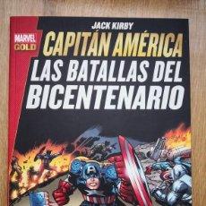 Cómics: MARVEL GOLD CAPITÁN AMÉRICA: LAS BATALLAS DEL BICENTENARIO. JACK KIRBY. TOMO PANINI. Lote 168978016