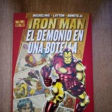 Cómics: MARVEL GOLD IRON MAN: EL DEMONIO EN UNA BOTELLA. TOMO PANINI. Lote 169243008