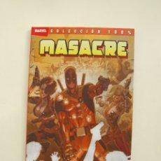 Cómics: MASACRE (DEADPOOL) - COLECCIÓN 100% MARVEL - LA GUERRA DE WADE WILSON - JASON PEARSON - PANINI. Lote 172791523