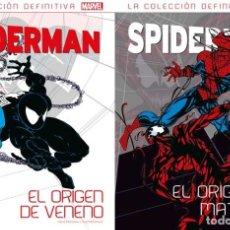 Cómics: SPIDERMAN - EL ORIGEN DE VENENO + EL ORIGEN DE MATANZA - PANINI SALVAT. Lote 175237775