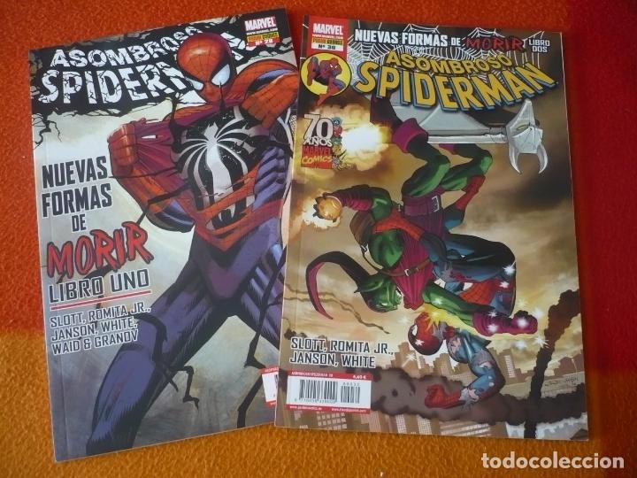 ASOMBROSO SPIDERMAN VOL. 2 NºS 29 Y 30 NUEVAS FORMAS DE MORIR ( SLOTT ) ¡COMO NUEVOS! PANINI (Tebeos y Comics - Panini - Marvel Comic)