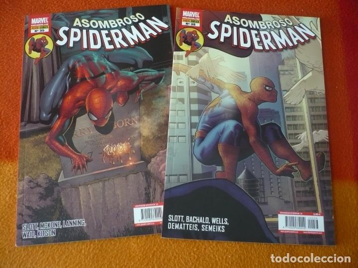 ASOMBROSO SPIDERMAN VOL. 2 NºS 35 Y 36 ( SLOTT WAID ) ¡COMO NUEVOS! PANINI MARVEL (Tebeos y Comics - Panini - Marvel Comic)