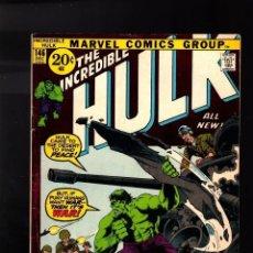 Cómics: INCREDIBLE HULK 146 MARVEL 1971 EN INGLES NO FORUM NO PANINI. Lote 176610283