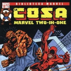 Cómics: LA COSA - MARVEL TWO IN ONE - BIBLIOTECA MARVEL COMPLETA 16 NÚMEROS. Lote 177509115