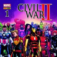 Cómics: CIVIL WAR II # 01 -2016-HUMBERTO RAMOS-PORT. EXCLUSIVA AKIRA COMICS - NUEVO -BOLSA Y BACKBOARD. Lote 178327871